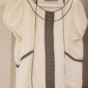 Zara shoulder blouse